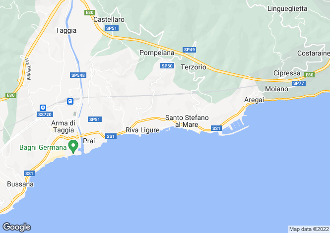 Map for Liguria, Imperia, Santo Stefano al Mare