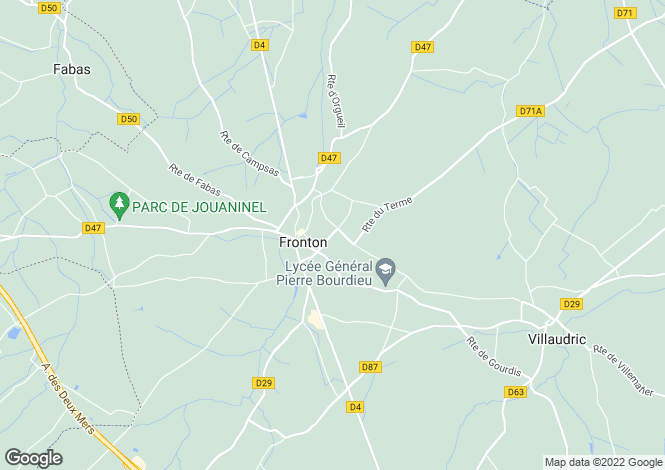 Map for Midi-Pyrénées, Haute-Garonne, Fronton
