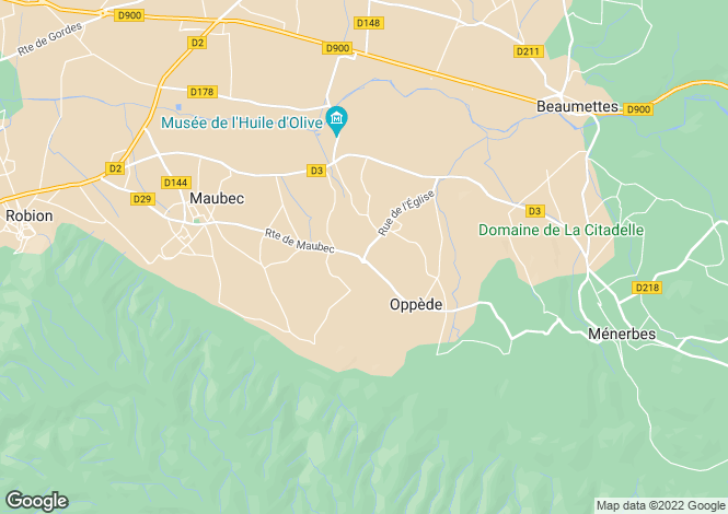 Map for Oppède, 84580, France
