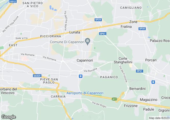 Map for Capannori, Tuscany, Italy