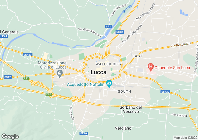 Map for Tuscany, Lucca, Lucca