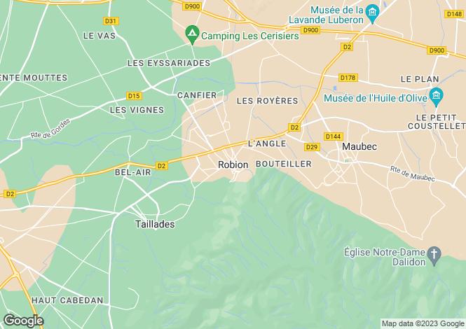 Map for Provence-Alps-Cote d`Azur, Vaucluse, Robion