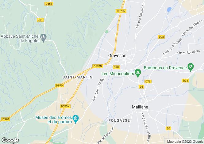Map for Provence-Alps-Cote d`Azur, Bouches-du-Rhône, Tarascon