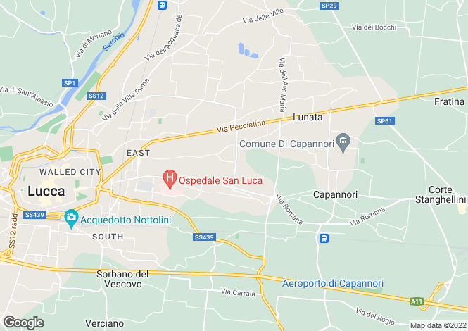 Map for Capannori, Lucca, Tuscany