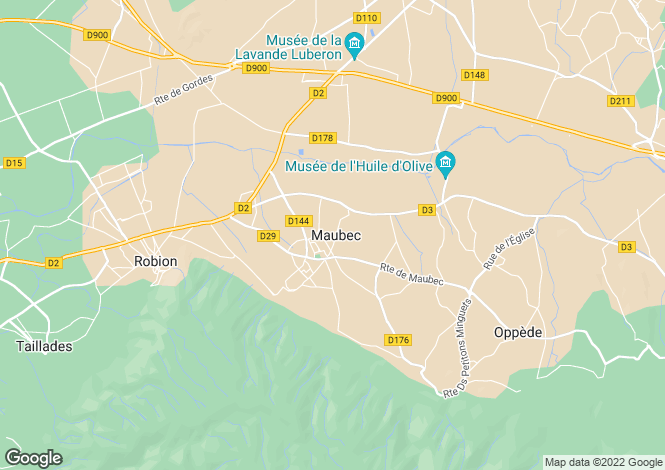 Map for 84660, Maubec, Vaucluse