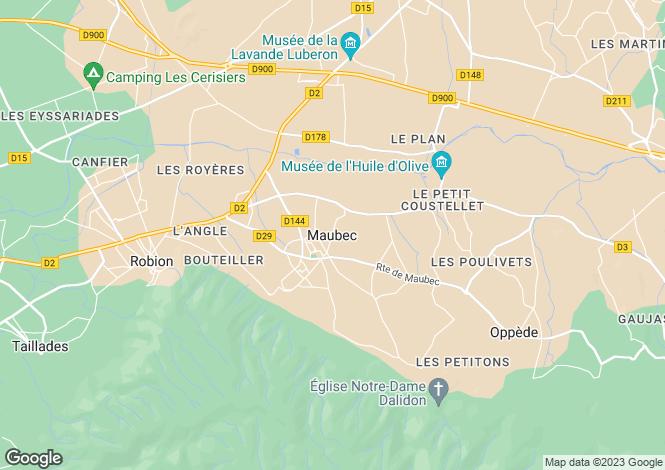 Map for Provence-Alps-Cote d`Azur, Vaucluse, Maubec