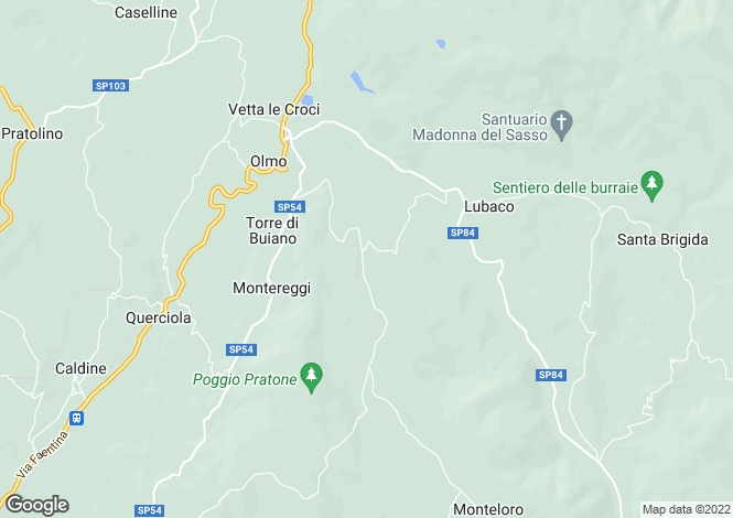 Map for Fiesole, Florence, Tuscany