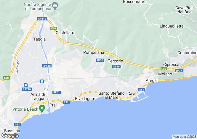 Map for Liguria, Imperia, Pompeiana