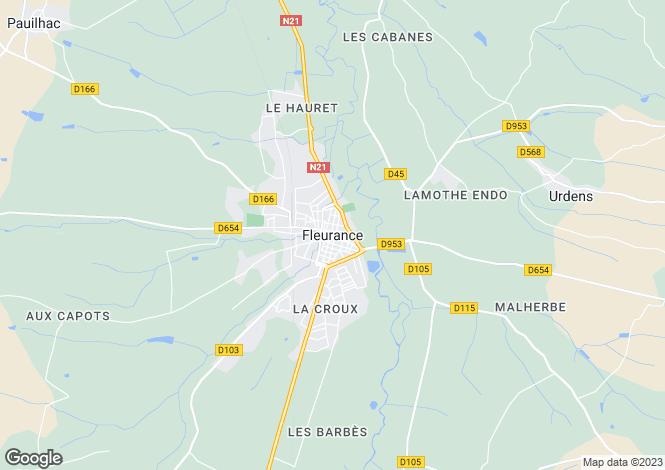 Map for Nr Fleurance, Gers, 32500, France