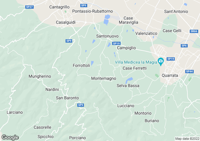 Map for Quarrata, Pistoia, Tuscany