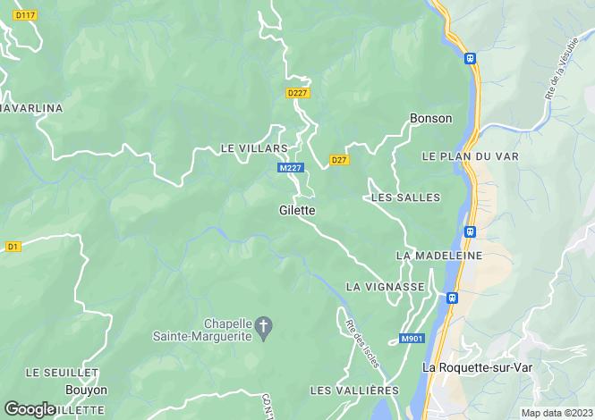 Map for Gilette, Alpes-Maritimes, 06830, France