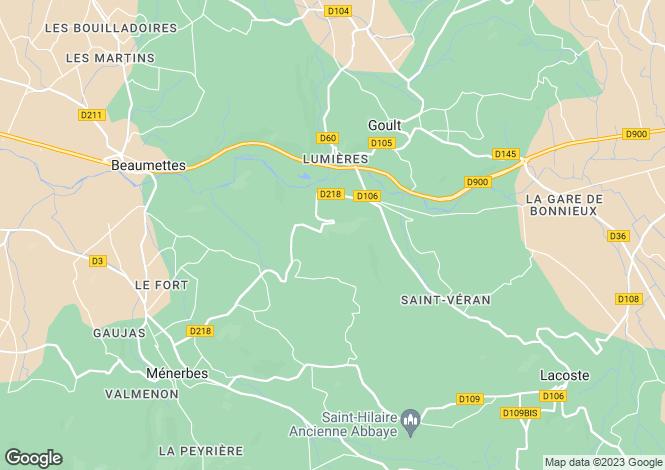 Map for Provence-Alps-Cote d`Azur, Vaucluse, Beaumettes