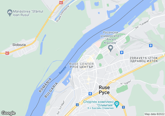 Map for Ruse, Ruse