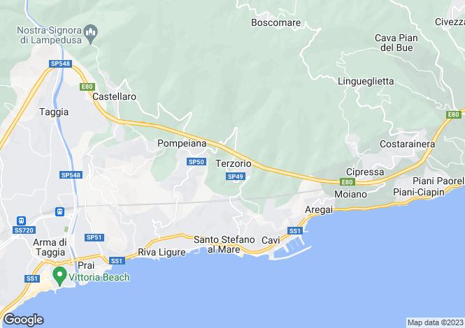 Map for Liguria, Imperia, Terzorio