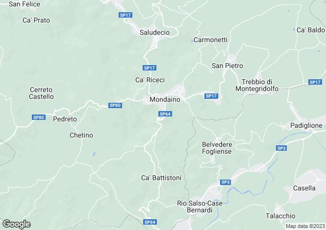 Map for Mondaino, Rimini, Italy