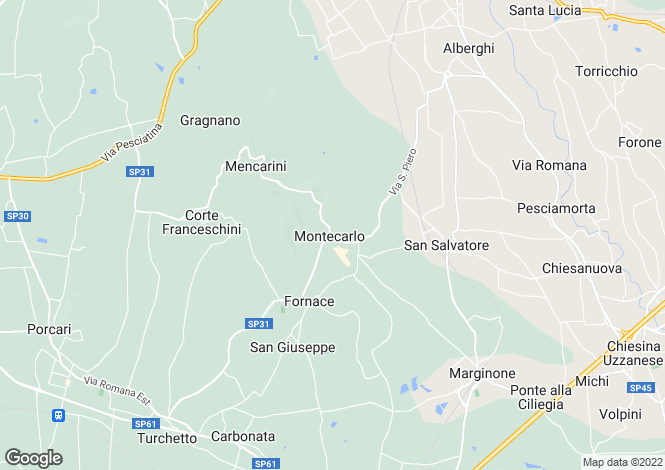 Map for Tuscany, Lucca