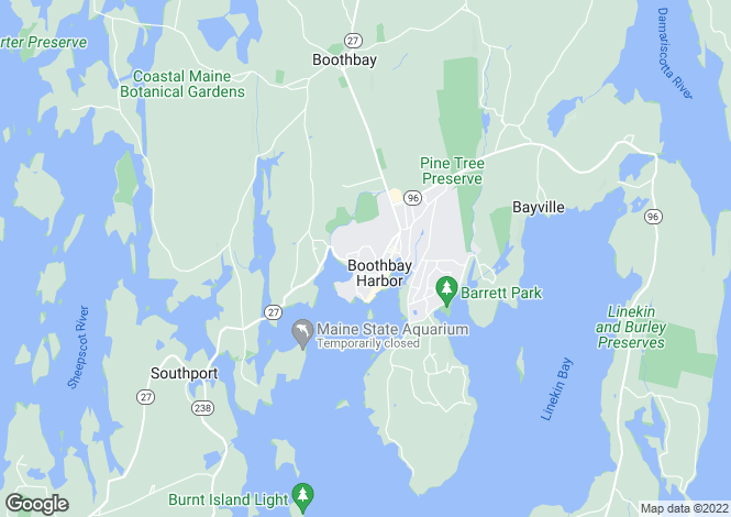 Map for USA - Maine, Lincoln County, Boothbay Harbor