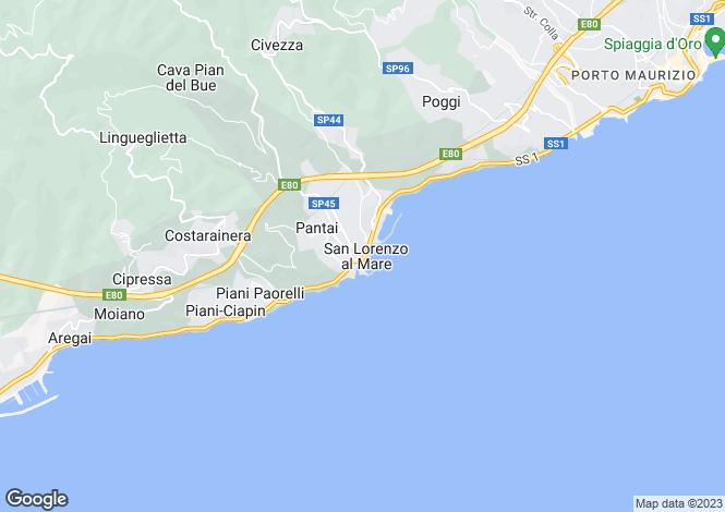 Map for San Lorenzo Al Mare, Liguria, Italy