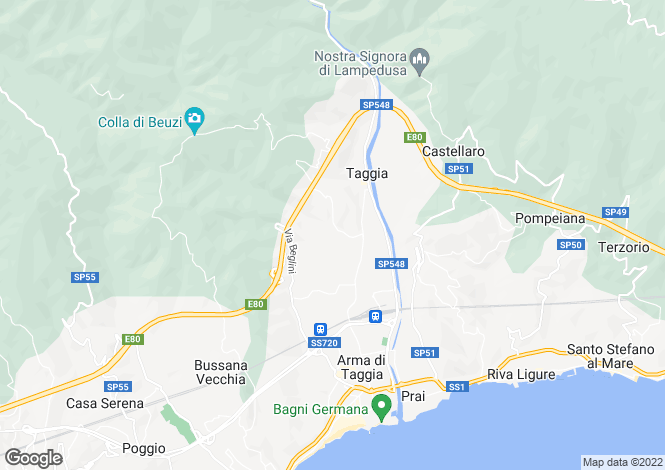 Map for Arma di Taggia,Italy