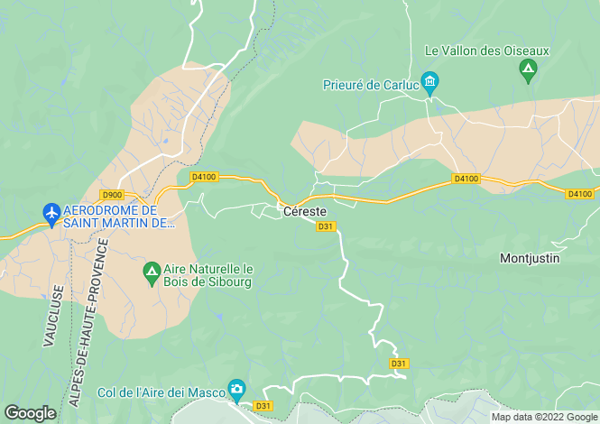 Map for 04280, Cereste, Vaucluse