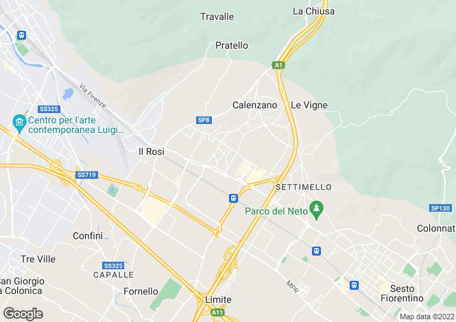 Map for Calenzano, Florence, Tuscany