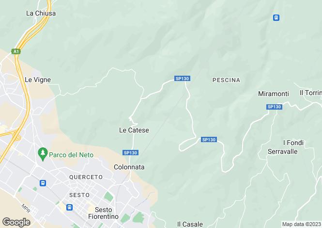 Map for Sesto Fiorentino, Firenze, Italy