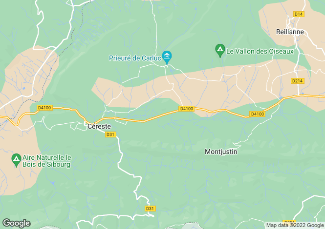 Map for Cereste, Alpes-de-Haute-Provence, France