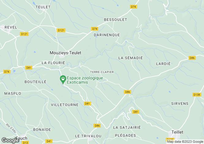 Map for Proche / Near Frejairolles, Tarn
