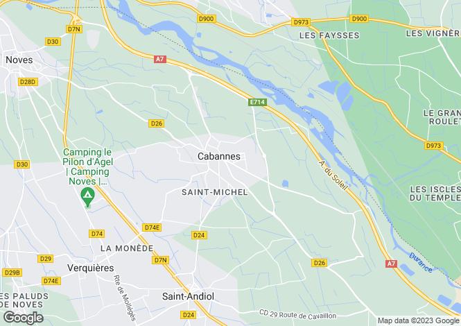 Map for cabannes, Bouches-du-Rhône, France