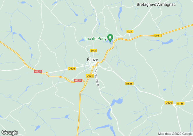 Map for eauze, Gers, France
