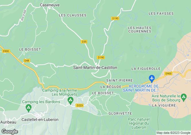 Map for Provence-Alps-Cote d`Azur, Vaucluse, St-Martin-de-Castillon
