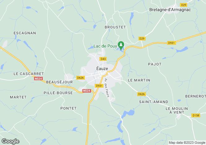 Map for A cotes de Gascogne vineyard with development potential.