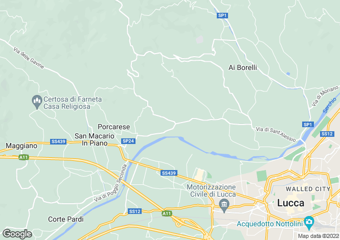 Map for Dolcevento, Rocca, Lucca, Italy