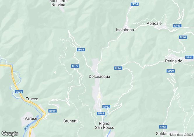 Map for Dolceacqua, Imperia, Liguria