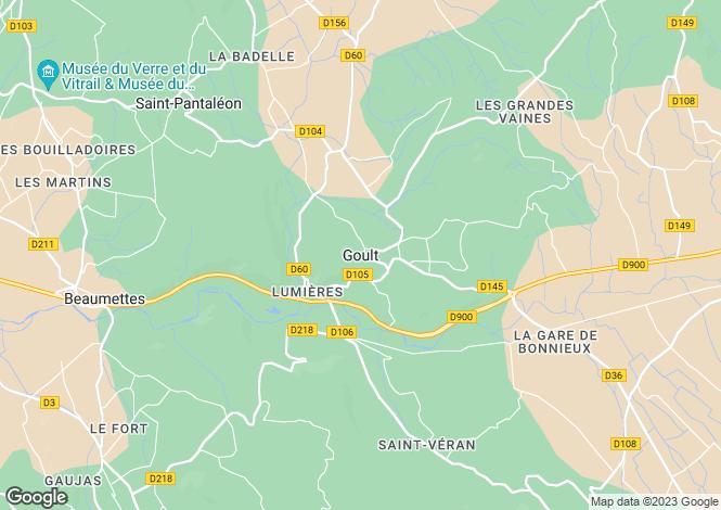 Map for Provence-Alps-Cote d`Azur, Vaucluse, Goult