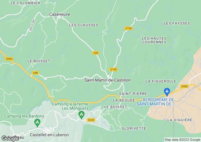 Map for ST MARTIN DE CASTILLON, The Luberon, Provence - Var,