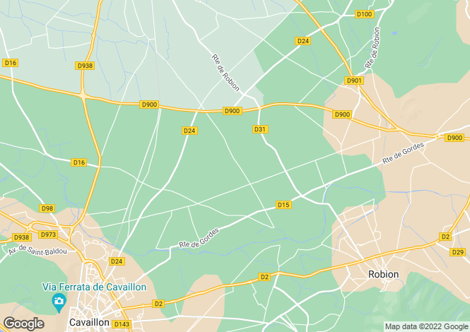 Map for Cavaillon, Provence Luberon, South Of France