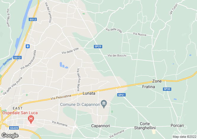 Map for Tuscany, Lucca, Capannori