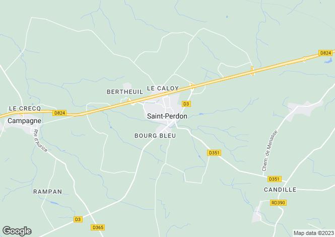 Map for Aquitaine, Landes, St-Perdon