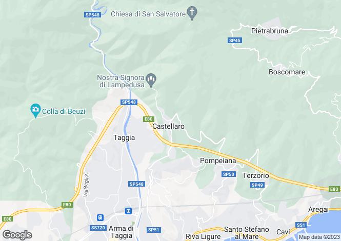 Map for Liguria, Imperia, Castellaro