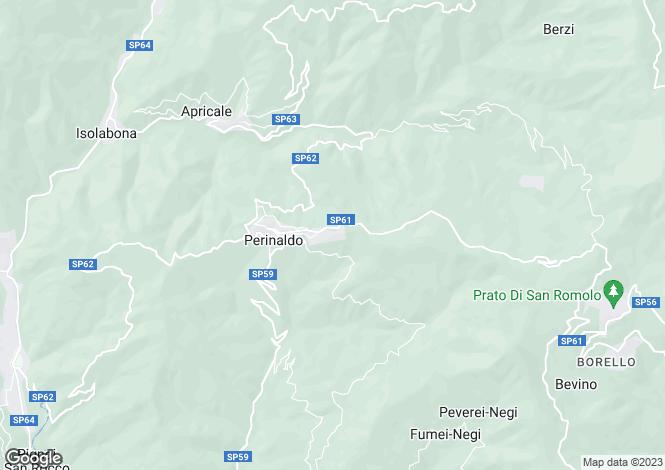 Map for Liguria, Imperia, Perinaldo