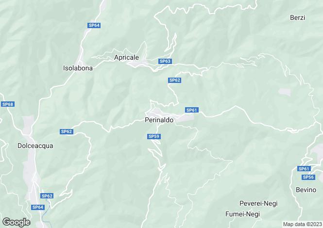 Map for Perinaldo, Imperia, Liguria