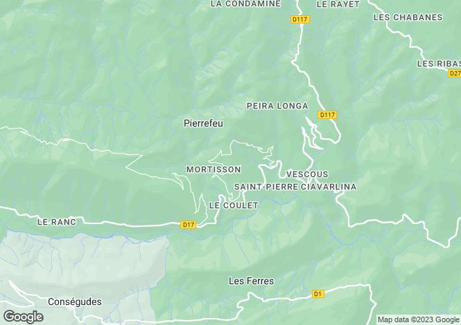 Map for Provence-Alps-Cote d`Azur, Alpes-Maritimes, Pierrefeu