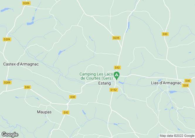 Map for estang, Gers, France