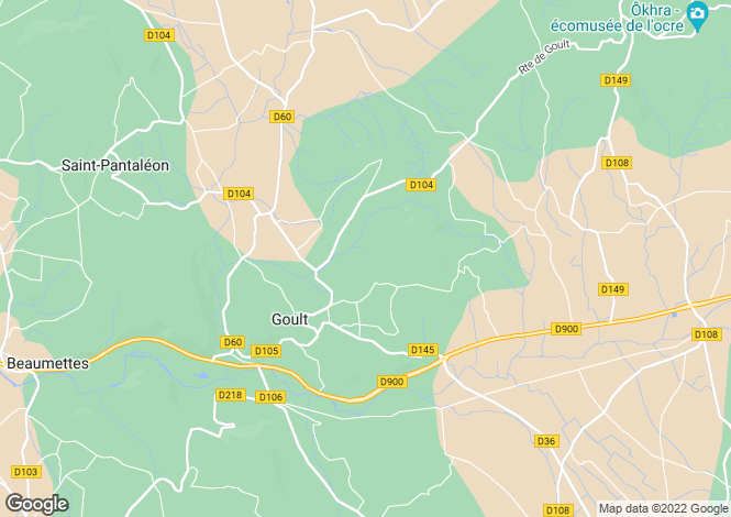 Map for GOULT, The Luberon, Provence - Var,