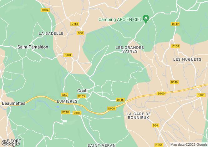 Map for Goult, Vaucluse, Provence-Alps-Cote d`Azur