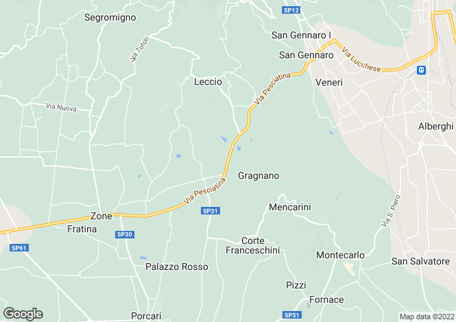 Map for Capannori, Lucca, Italy