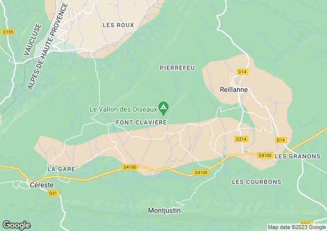 Map for Provence-Alps-Cote d`Azur, Alpes-de-Haute-Provence, Reillanne