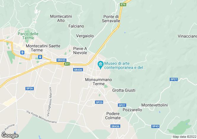 Map for Tuscany, Pistoia, Monsummano Terme