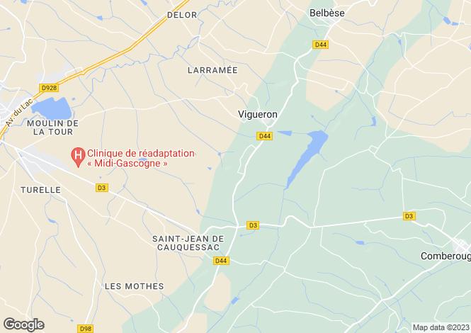 Map for Nr Beaumont de Lomagne, Tarn-et-Garonne, 82500, France